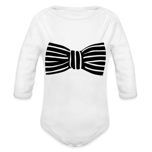 bow_tie - Organic Longsleeve Baby Bodysuit