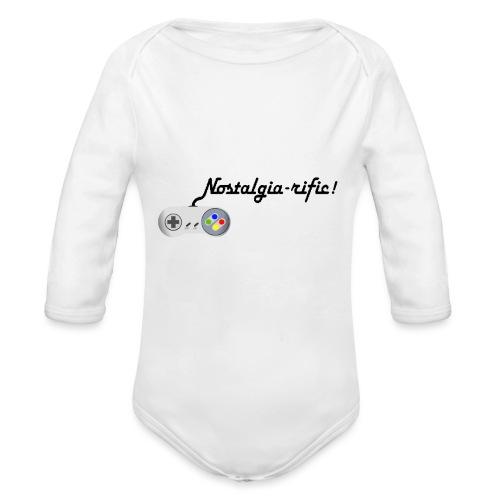 Nostalgia-rific! - Organic Longsleeve Baby Bodysuit