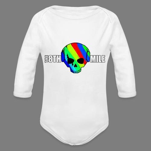 Colorful Skull Logo - Organic Longsleeve Baby Bodysuit