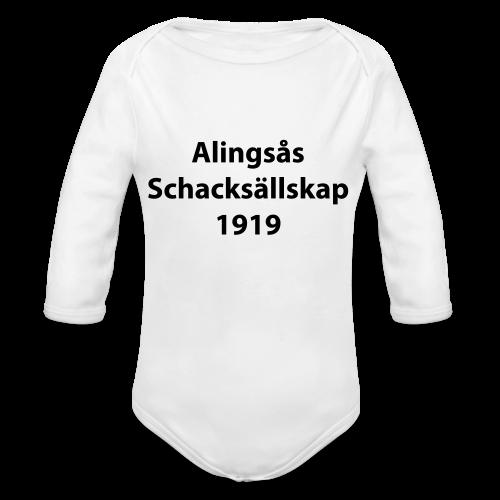 Alingsås Schacksällskap, text - Ekologisk långärmad babybody