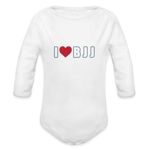 i love bjj - Ekologiczne body niemowlęce z długim rękawem