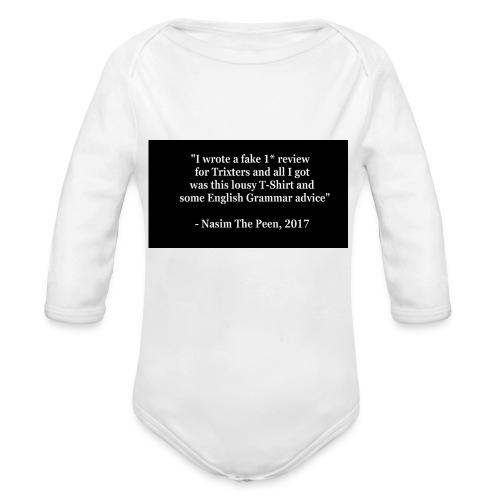NasimPeen - Organic Longsleeve Baby Bodysuit