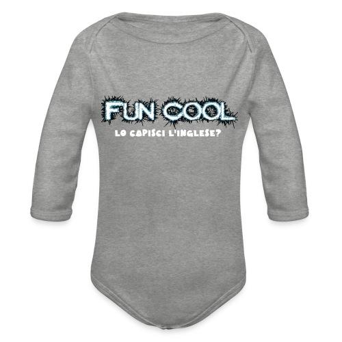 Capisci L'inglese Fun Cool - Body ecologico per neonato a manica lunga