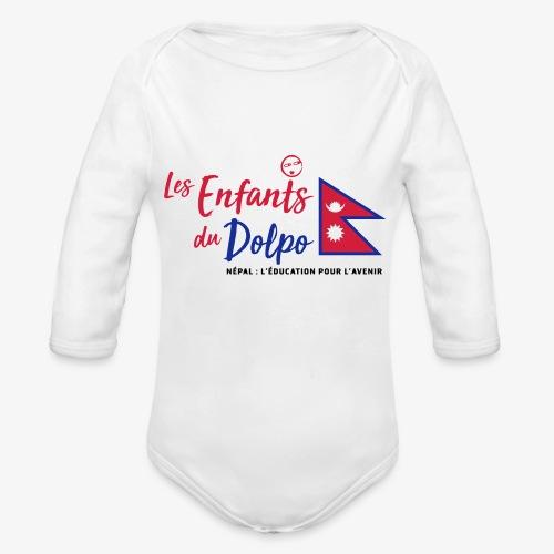 Les Enfants du Doplo - Grand Logo Centré - Body Bébé bio manches longues