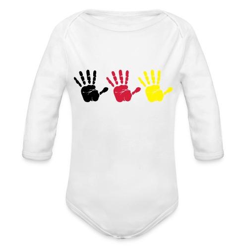 Handabdruck Trio - Baby Bio-Langarm-Body