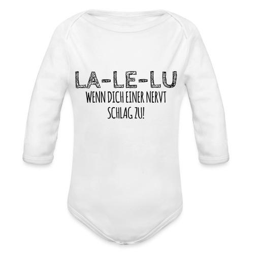 Schlagen - Baby Bio-Langarm-Body