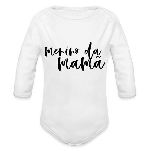 Menino da mamã - Body orgánico de manga larga para bebé