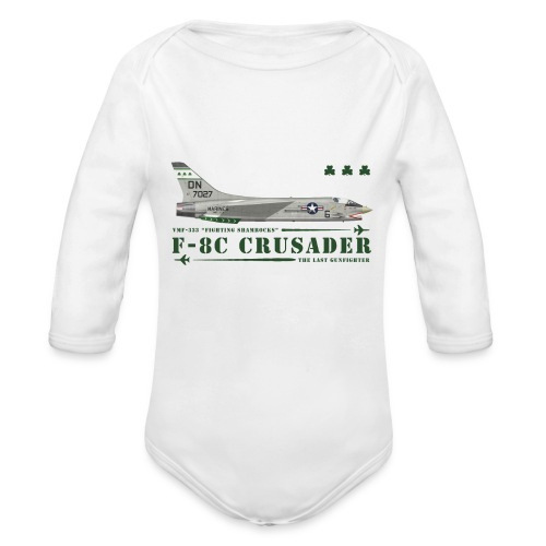 F-8C Crusader VMF-333 - Organic Longsleeve Baby Bodysuit