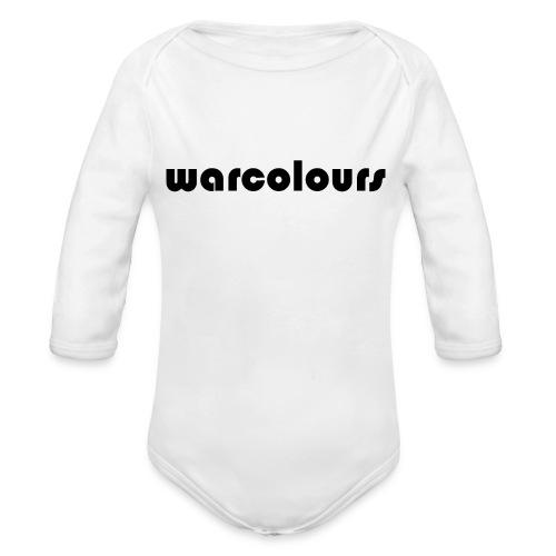 warcolours logo - Organic Longsleeve Baby Bodysuit