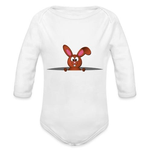 Cute bunny in the pocket - Body ecologico per neonato a manica lunga