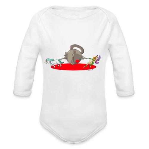 CFMD Halbkugel Comic Farbe - Baby Bio-Langarm-Body