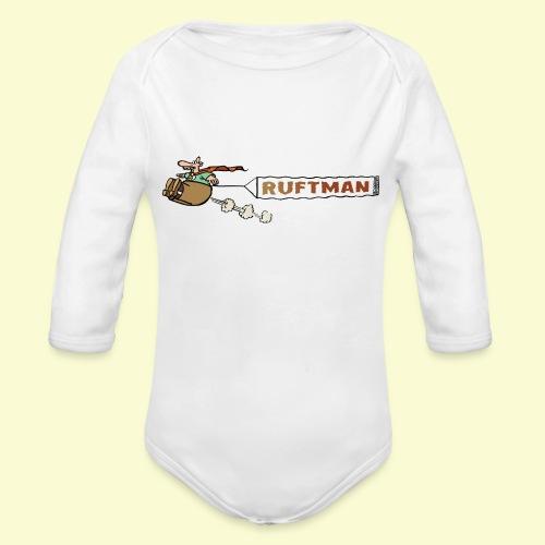 DIRKJAN Rruftman - Baby bio-rompertje met lange mouwen