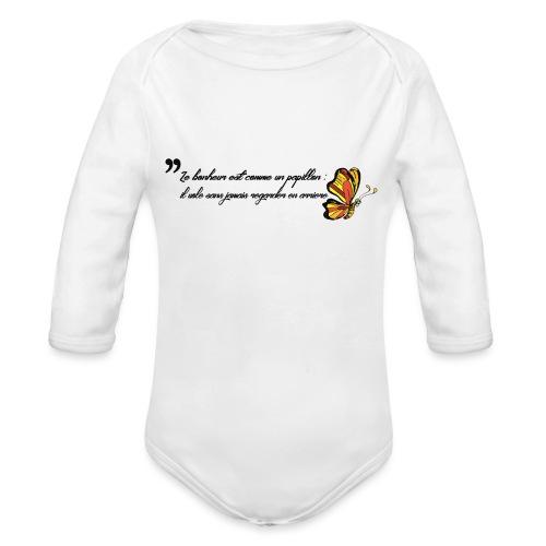 Papillon de bonheur - Body Bébé bio manches longues