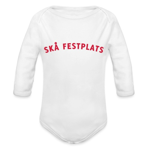 Skå Festplats Logotyp Röd - Ekologisk långärmad babybody
