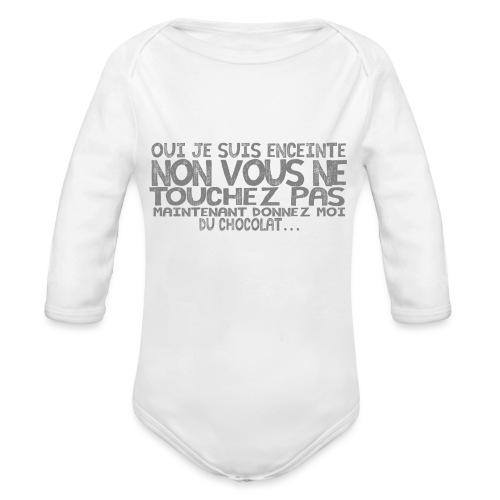 Tshirt-Femme-Enceinte-Chocolat-1 - Body Bébé bio manches longues