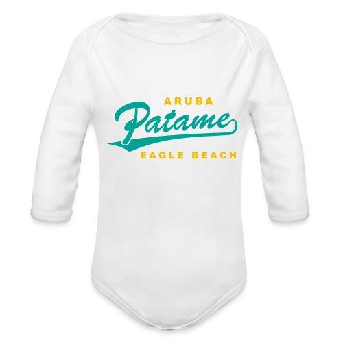 Patame Eagle Beach - Baby Bio-Langarm-Body