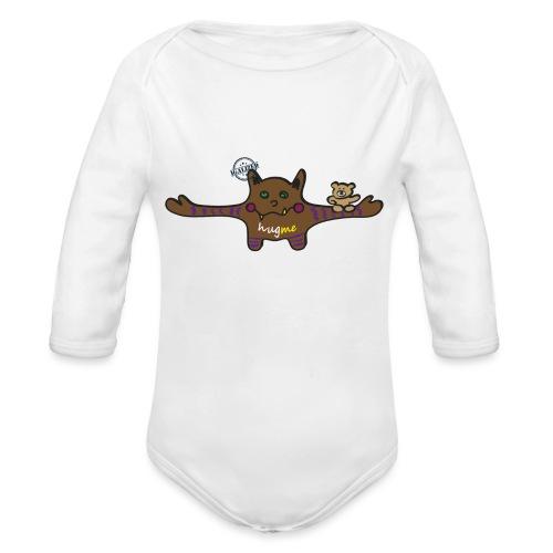 Hug me Monsters - Every little monster needs a hug - Organic Longsleeve Baby Bodysuit