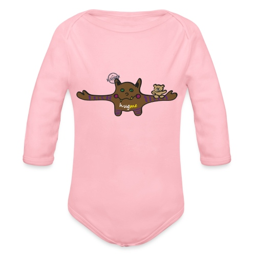 Hug me Monsters - Every little monster needs a hug - Organic Longsleeve Baby Bodysuit