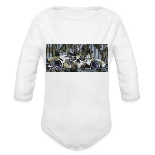 calavera style - Organic Longsleeve Baby Bodysuit