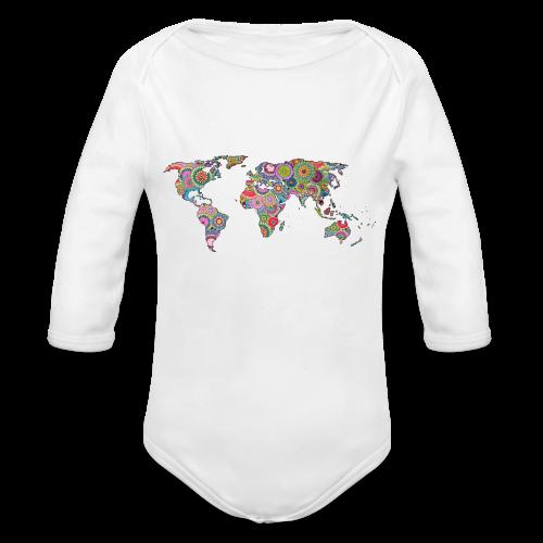 Hipsters' world - Organic Longsleeve Baby Bodysuit