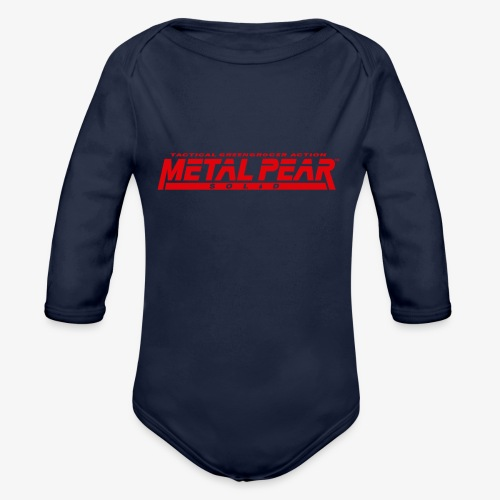 Metal Pear Solid: Tactical Greengrocer Action - Organic Longsleeve Baby Bodysuit