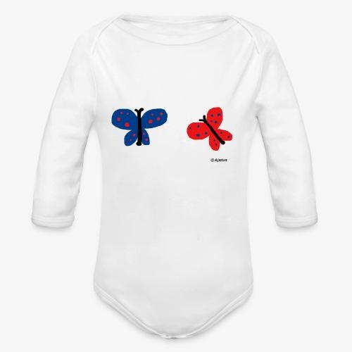 Perhoset - Vauvan pitkähihainen luomu-body