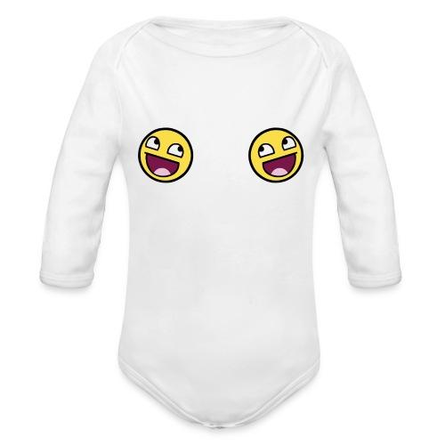Design lolface knickers 300 fixed gif - Organic Longsleeve Baby Bodysuit