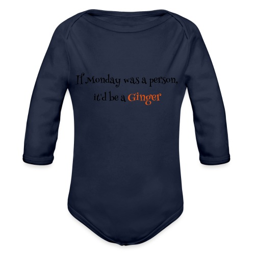 ginger1 - Vauvan pitkähihainen luomu-body