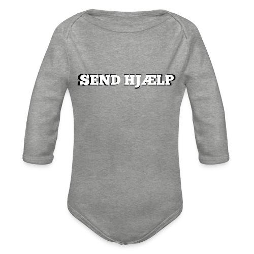 SEND HJÆLP T-shirt - Langærmet babybody, økologisk bomuld