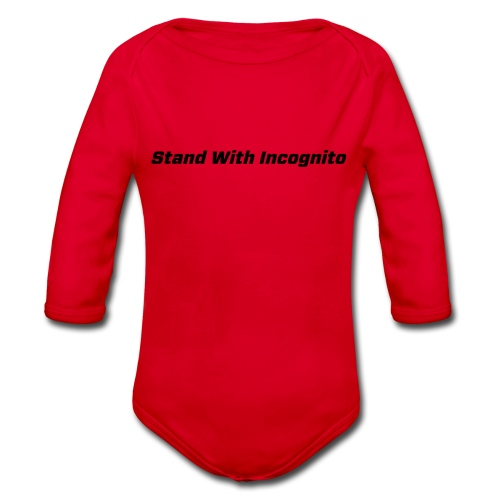Stand With Incognito - Organic Longsleeve Baby Bodysuit