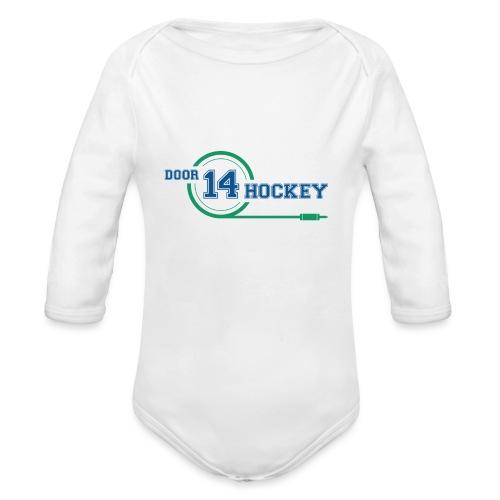 D14 HOCKEY LOGO - Organic Longsleeve Baby Bodysuit