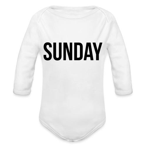 Sunday - Organic Longsleeve Baby Bodysuit