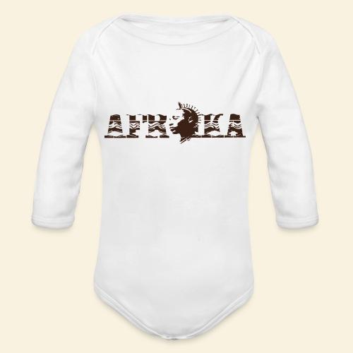 afrika - Body Bébé bio manches longues