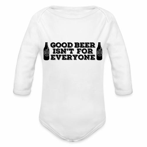 Good Beer - Organic Longsleeve Baby Bodysuit