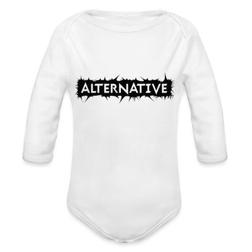 Spike T-shirt White - Ekologiczne body niemowlęce z długim rękawem