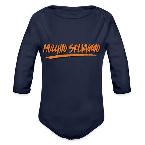Mucchio Selvaggio 2016 Dirty Orange - Body ecologico per neonato a manica lunga
