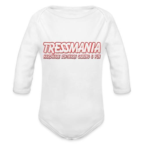 Tres Mania Logo - Organic Longsleeve Baby Bodysuit