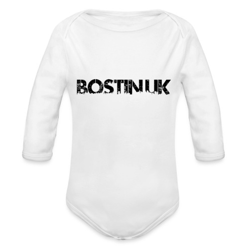 Bostin uk white - Organic Longsleeve Baby Bodysuit