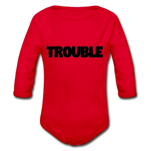 Trouble - Organic Longsleeve Baby Bodysuit