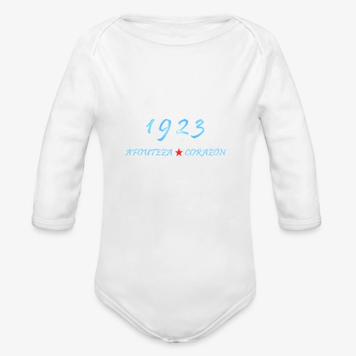 1923 - Body orgánico de manga larga para bebé