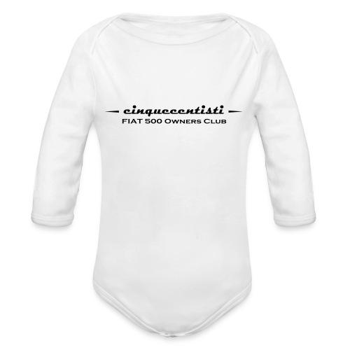 Cinquecentisti 500 Owners Club Vector - Body ecologico per neonato a manica lunga