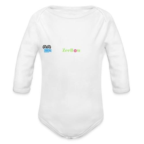 T-Shirt - Langærmet babybody, økologisk bomuld