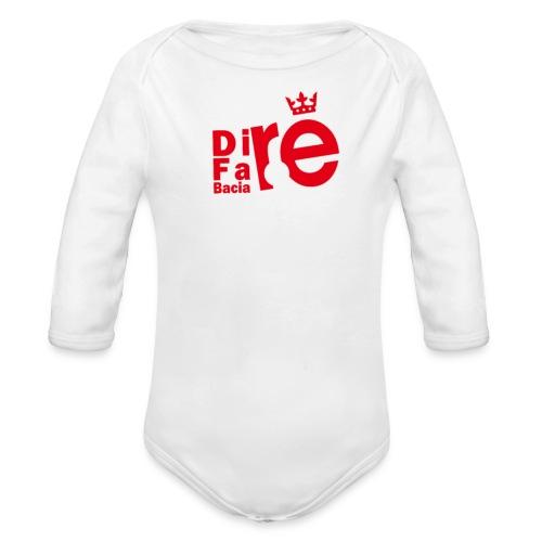direbla - Body ecologico per neonato a manica lunga