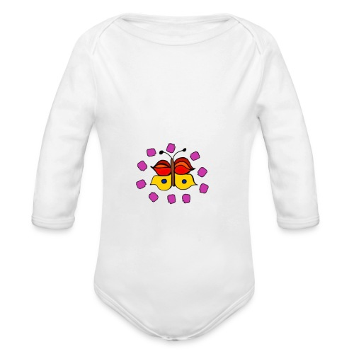 Butterfly colorful - Organic Longsleeve Baby Bodysuit