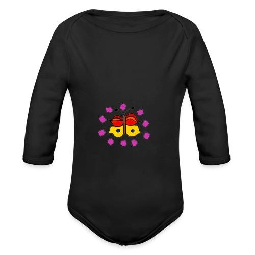 Butterfly colorful - Organic Longsleeve Baby Bodysuit