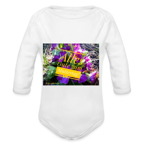 Mutter Tag - Baby Bio-Langarm-Body