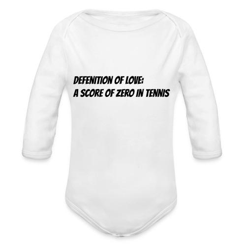 Tennis Love sweater women - Baby bio-rompertje met lange mouwen