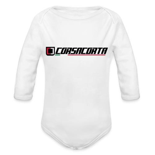 Corsacorta orizzontale - Body ecologico per neonato a manica lunga