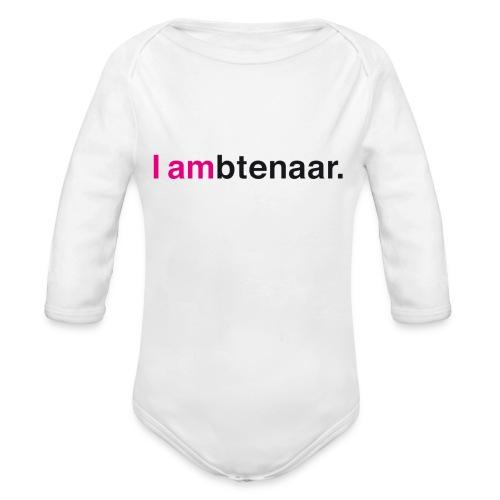 I ambtenaar - Baby bio-rompertje met lange mouwen