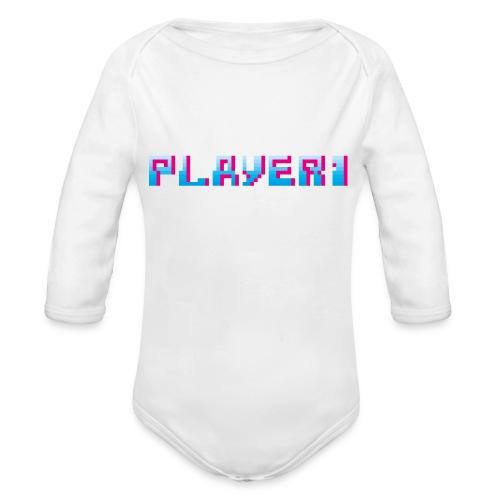 Arcade Game - Player 1 - Organic Longsleeve Baby Bodysuit